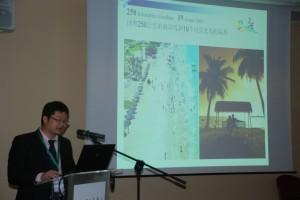 Ye Kaizhong - dyrektor Urzędu turystyki Haitangwan Spotkanie z przedstawicielami branży turystycznej z chińskiej wyspy Hainan. fot..ŚWIECZAK