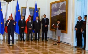 Spotkanie Prezydenta z posłami do Parlamentu Europejskiego w Belwederze źródło: prezydent.pl