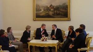 Spotkanie Prezydenta RP z Komisarzem UE ds. rozszerzenia i polityki sąsiedztwa fot.SWIECZAK