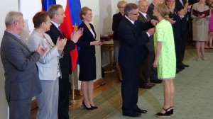 Magdalena CIELECKA Prezydent wręczył odznaczenia państwowe zasłużonym twórcom kultury fot.ŚWIECZAK