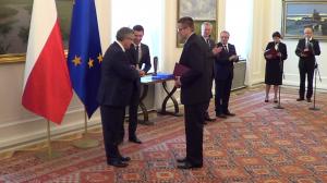"""Filip Biernat  Finał konkursu """"Filary demokracji lokalnej"""" fot: ŚWIECZAK"""