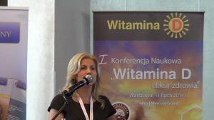 """Dr hab. n. med. Beata Matyjaszek-Matuszek I Konferencja Naukowa """"Witamina D – eliksir zdrowia"""" fot. ŚWIECZAK"""