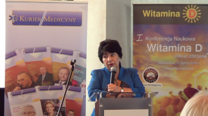 """Prof. dr hab. n. med. Małgorzata Kozłowska-Wojciechowska I Konferencja Naukowa """"Witamina D – eliksir zdrowia"""" fot. ŚWIECZAK"""