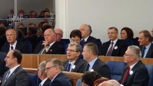 Obchody 25. rocznicy pierwszego posiedzenia odrodzonego Senatu  fot. ŚWIECZAK