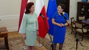 Szefowe Sejmu i Saeimy o rozwoju stosunków polsko-łotewskich fot.ŚWIECZAK