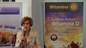 """Prof. dr hab. n. med. Ewa Marcinowska–Suchowierska   I Konferencja Naukowa """"Witamina D – eliksir zdrowia"""" fot. ŚWIECZAK"""