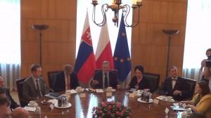 Prezydent Słowacji Andrej Kiska u premiera Donalda Tuska  fot.ŚWIECZAK