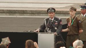 Uroczystości na Placu Krasińskich przed Pomnikiem Powstania Warszawskiego  fot.ŚWIECZAK