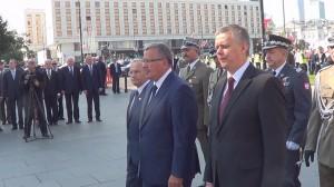 Prezydent złożył kwiaty pod pomnikiem Marszałka Piłsudskiego   fot.ŚWIECZAK