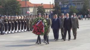 Uroczystości Wojska Polskiego – złożenie kwiatów pod Grobem Nieznanego Żołnierza  fot.ŚWIECZAK