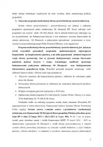 """Nowy system obrony powietrznej """"Tarcza Polski""""-stanowisko PLP  uzasadnienie str.3"""