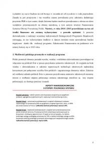 """Nowy system obrony powietrznej """"Tarcza Polski""""-stanowisko PLP  uzasadnienie str.4"""