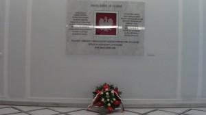 Marszałek Sejmu Radosław Sikorski oddał hołd zmarłym parlamentarzystom fot.ŚWIECZAK