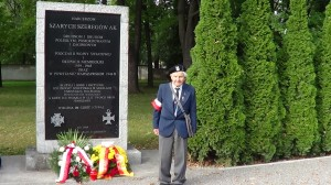 "Tadeusz Sułowski, pseudonim ""Tadek"".  Hołd Harcerzom Szarych Szeregów AK  fot. ŚWIECZAK"