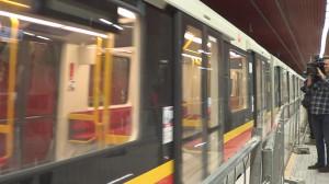 Pierwszy publiczny przejazd II linią metra fot.ŚWIECZAK