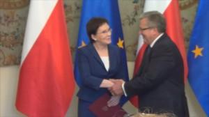 Prezydent desygnował Ewę Kopacz na premiera fot.ŚWIECZAK