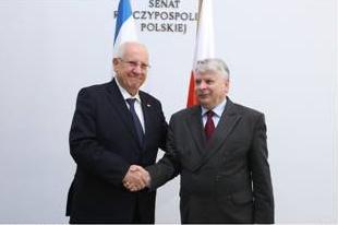 Prezydent Izraela gościem marszałka Senatu
