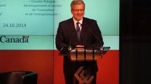 Prezydent RP Bronisław Komorowski  Polsko-Kanadyjski Panel Innowacyjności  fot. ŚWIECZAK