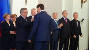 Odznaczenia dla reprezentacji Polski w Piłce Siatkowej Mężczyzn fot. ŚWIECZAK