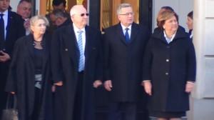 Prezydent Państwa Izrael Reuwen Riwlin z Małżonką z oficjalną wizytą  w Polsce fot. ŚWIECZAK