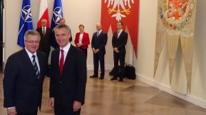 Spotkanie prezydenta Bronisława Komorowskiego z sekretarzem generalnym NATO Jensem Stoltenbergiem fot. ŚWIECZAK