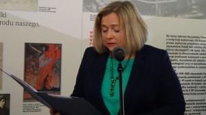wicemarszałkini Sejmu Wanda Nowicka. Posłanki i Senatorki II RP – wystawa w Sejmie .<br />fot. ŚWIECZAK