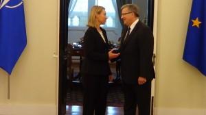 Prezydenta RP spotkał się z Wysoką Przedstawiciel Unii do Spraw Zagranicznych i Polityki Bezpieczeństwa fot. ŚWIECZAK