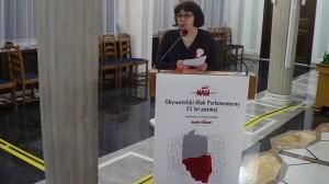 Dr Inka Słodkowska NASI W SEJMIE I W SENACIE – OBYWATELSKI KLUB PARLAMENTARNY 25 LAT PÓŹNIEJ fot. ŚWIECZAK