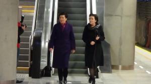 Premier Ewa Kopacz i Prezydent Warszawy Hanna Gronkiewicz-Waltz przejechały II linią metra  fot. ŚWIECZAK