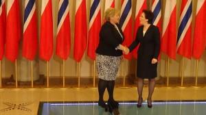 Spotkanie premier RP Ewy Kopacz z premier Norwegii Erną Solberg fot ŚWIECZAK