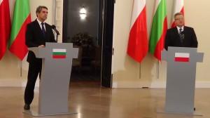 Prezydent Bułgarii Rosen Plewnelijew Prezydent Polski Bronisław Komorowski  Prezydenci Polski i Bułgarii: Wspólnota działań i poglądów fot. ŚWIECZAK