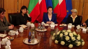 Premier Ewa Kopacz spotkała się w z prezydentem Bułgarii Rosenem Plewnelijewem   fot. ŚWIECZAK