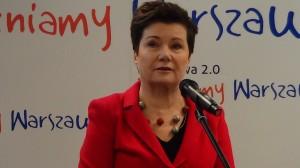 Prezydent Warszawy Hanna Gronkiewicz-Waltz Warszawa zacieśnia współpracę z polskimi pracodawcami. List intencyjny w sprawie współpracy na najbliższe lata  fot. ŚWIECZAK