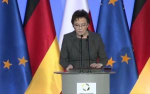 Premier Ewa Kopacz i kanclerz Angela Merkel w Krzyżowej  fot. ŚWIECZAK