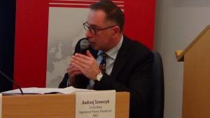 Andrzej Szewczyk Z-ca Dyrektora Departament Promocji Gospodarczej PAIiIZ Znaczenie sektora B+R+I w nowej perspektywie finansowej fot. ŚWIECZAK