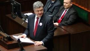 Prezydent Poroszenko w Sejmie fot. ŚWIECZAK