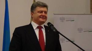 Prezydent Ukrainy Petro Poroszenko  Forum gospodarcze Polska–Ukraina fot. ŚWIECZAK