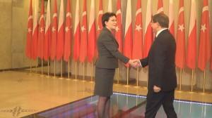 prezes Rady Ministrów Ewa Kopacz spotkała się z premierem Turcji Ahmetem Davutoğlu fot. ŚWIECZAK