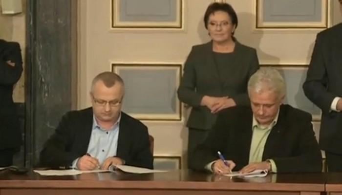 Podpisanie porozumienia rządu z górniczymi związkami zawodowymi