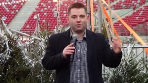 Piotr Glinkowski Menadżer ds. relacji publicznych Spółka PL.2012+  Inauguracja zimy w mieście oraz ferii na Zimowym Narodowym fot. ŚWIECZAK