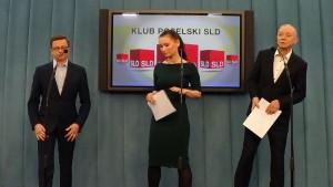 Dariusz Joński  Paulina Piechna-Więckiewicz Wincenty Elsner Konferencja prasowa  SLD - Ostatecznie rozstanie PO ze związkami partnerskimi fot. ŚWIECZAK