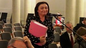 Monika Wielichowska  Poseł na Sejm RP Konferencja konsultacyjna projektu Programu Budowy Dróg Krajowych na lata 2014-2023 fot. ŚWIECZAK