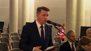Krzysztof Wołoszyn Wójt Gminy Żukowice  Konferencja konsultacyjna projektu Programu Budowy Dróg Krajowych na lata 2014-2023 fot. ŚWIECZAK