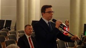 Dariusz Joński Rzecznik prasowy SLD Konferencja konsultacyjna projektu Programu Budowy Dróg Krajowych na lata 2014-2023 fot. ŚWIECZAK