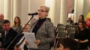 Danuta Wesołowska-Wujaszek  Wicedyrektor Departamentu Infrastruktury i Komunikacji Konferencja konsultacyjna projektu Programu Budowy Dróg Krajowych na lata 2014-2023 fot. ŚWIECZAK