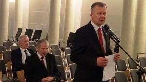 Adam Krzysztoń Starosta Łańcucki Konferencja konsultacyjna projektu Programu Budowy Dróg Krajowych na lata 2014-2023 fot. ŚWIECZAK
