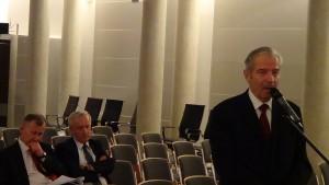 Roman Skomra  Przewodniczący Rady Gminy Łańcut Konferencja konsultacyjna projektu Programu Budowy Dróg Krajowych na lata 2014-2023 fot. ŚWIECZAK