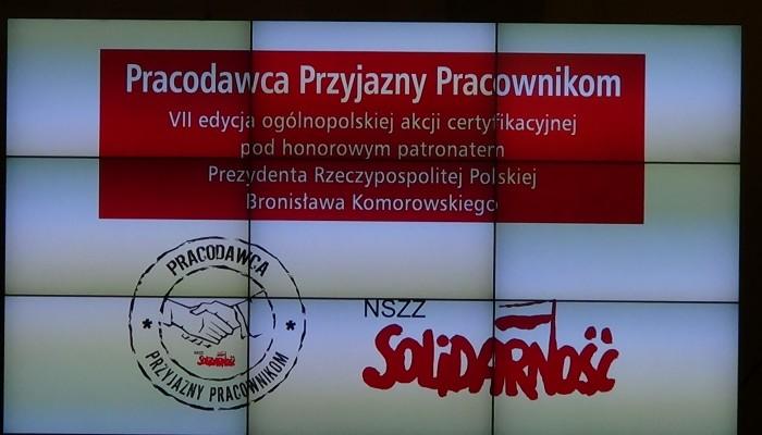"""Uroczystość wręczenia wyróżnień w konkursie """"Pracodawca Przyjazny Pracownikom"""" fot. ŚWIECZAK"""