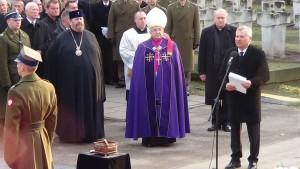 Prezydent Aleksander Kwaśniewski  Uroczystości pogrzebowe Józefa Oleksego fot. ŚWIECZAK