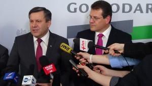 Wicepremier Piechociński i wiceprzewodniczący KE Šefčovič o utworzeniu europejskiej unii energetycznej  fot. ŚWIECZAK